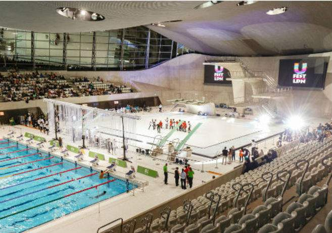 London Aquatics Centre Raises The Olympic Diving Pool Floor To Host  Inaugural Dance Competition